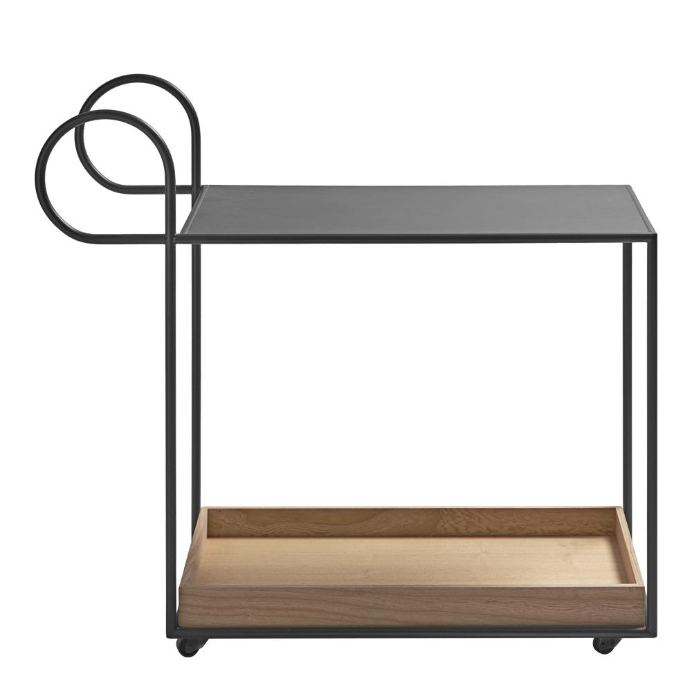 Klong - Julius Serveringsvagn rektangulär Grå