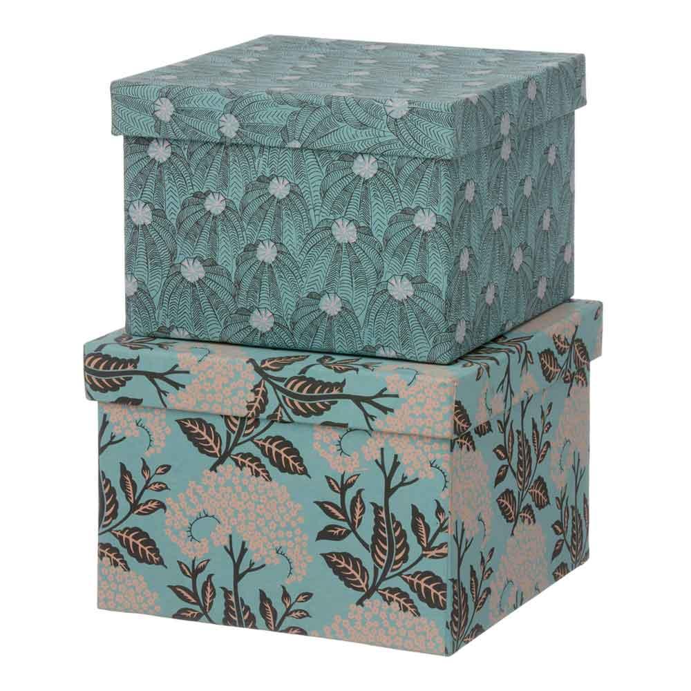 Bungalow - Duo Boxes Förvaringsask 2 delar Elderflowers/Ocean Blue