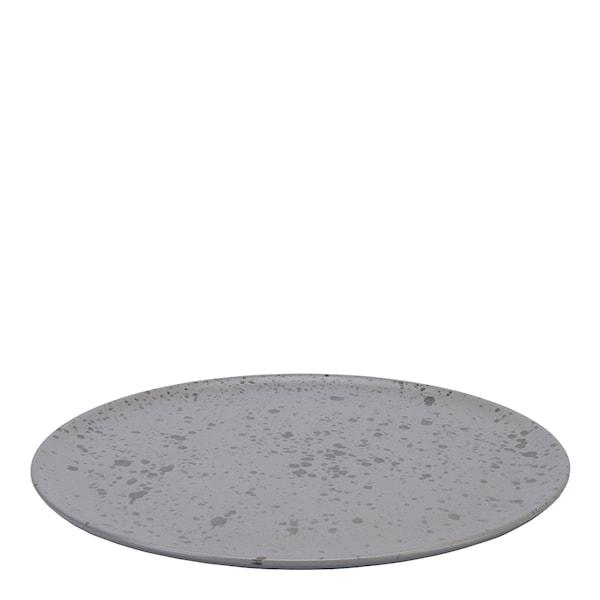 Aida Raw Tallrik 28 cm Spotted Grey