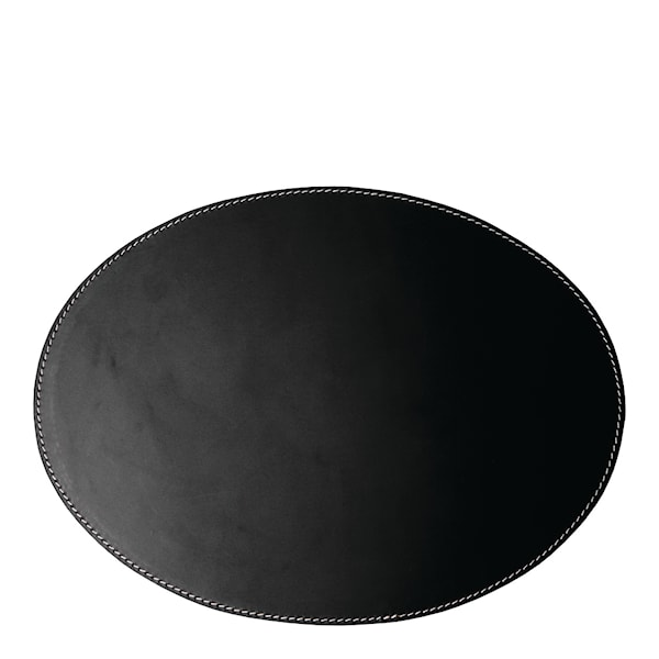 Leather Tablett Oval 34x47 cm