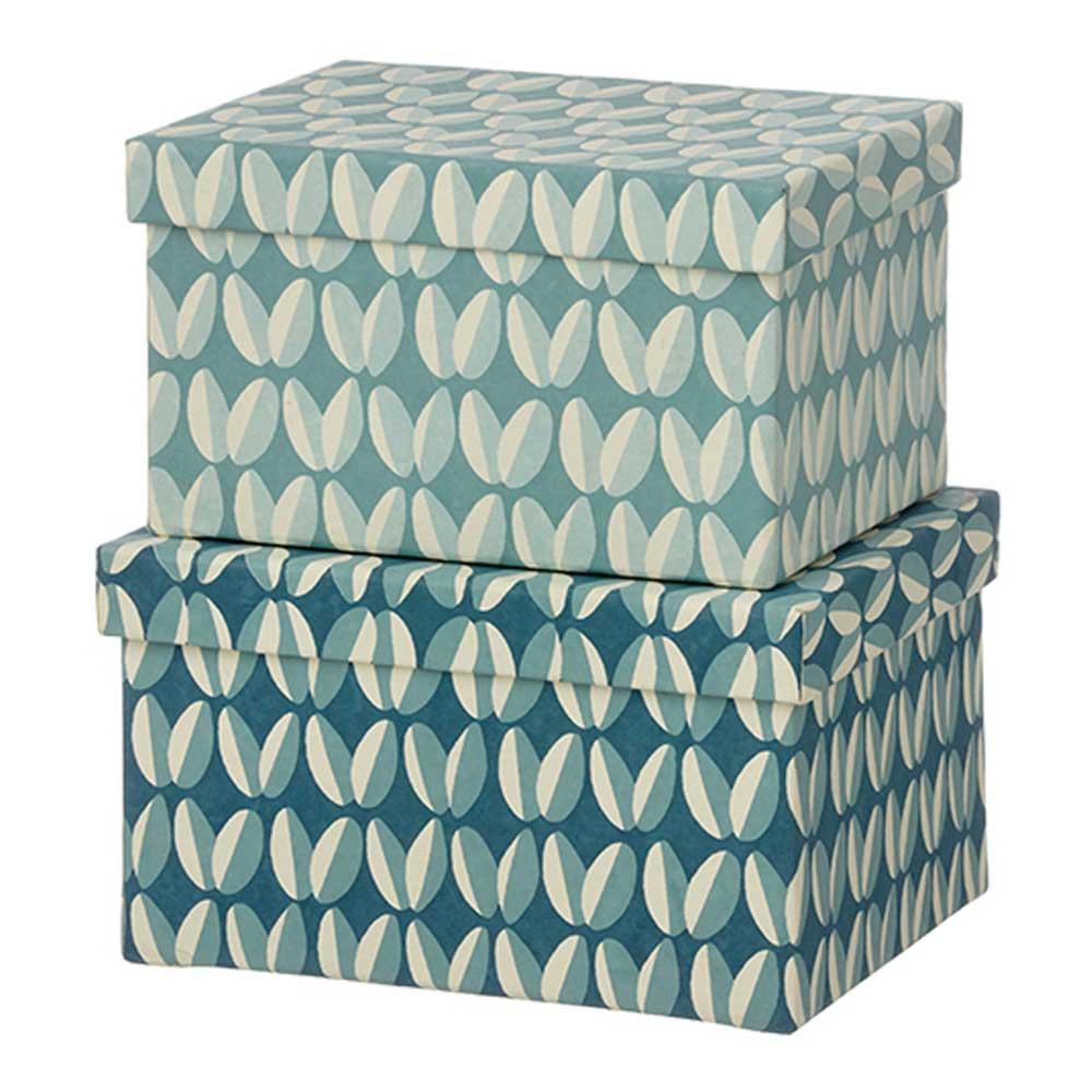 Bungalow - Duo Boxes Förvaringsask 2 delar Arabica/Ocean Blue