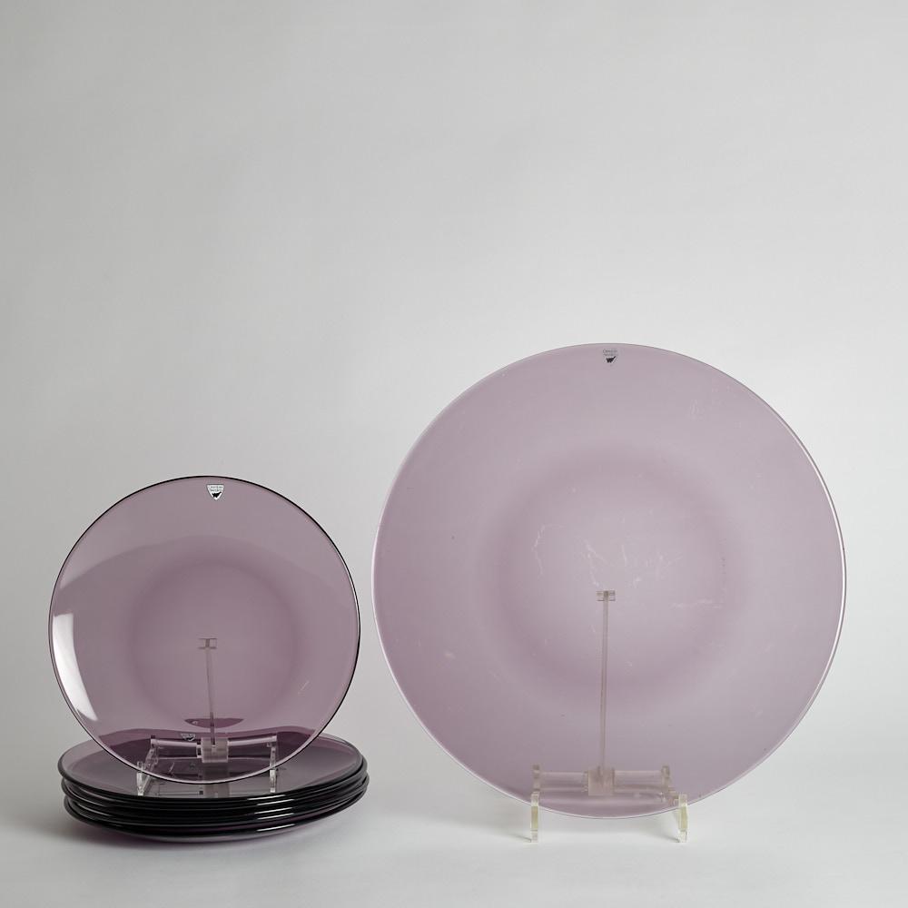 Orrefors - Violeta Assietter och Fat