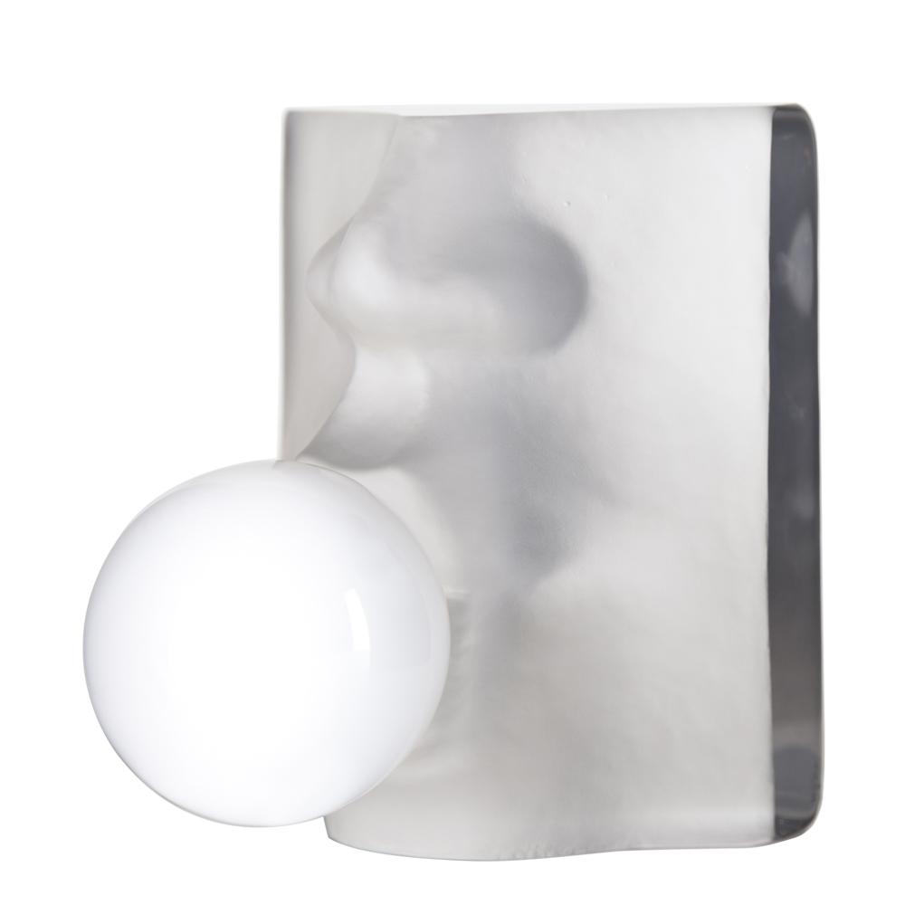 Målerås Glasbruk - Bubble Skulptur 15 cm Vit