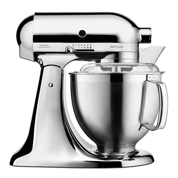 KitchenAid Artisan Kjøkkenmaskin 4,8 + 3 L + Tilbehør Krom