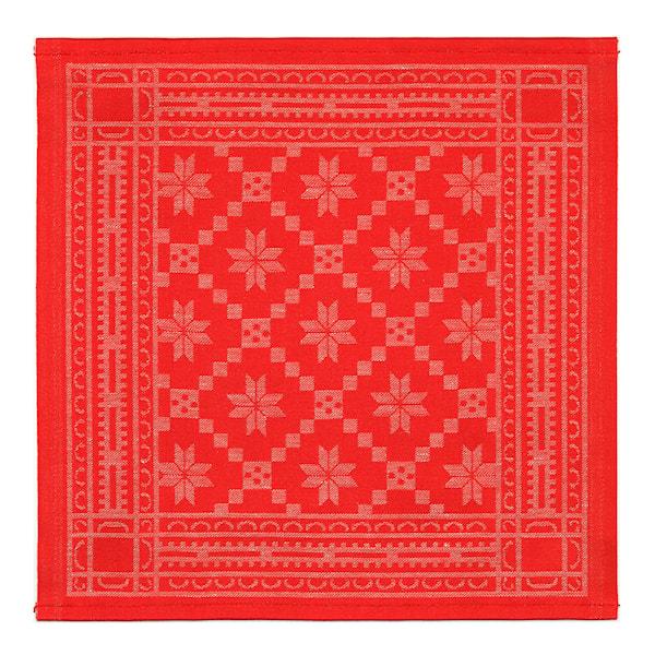 Åttebladrose 330 Servett 35x35 cm Röd