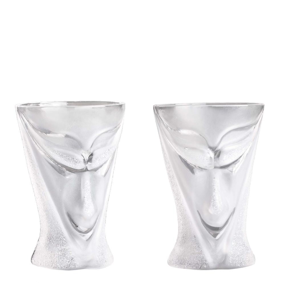 Målerås Glasbruk - Masq Snapsglas Rackarn 2-pack Klar