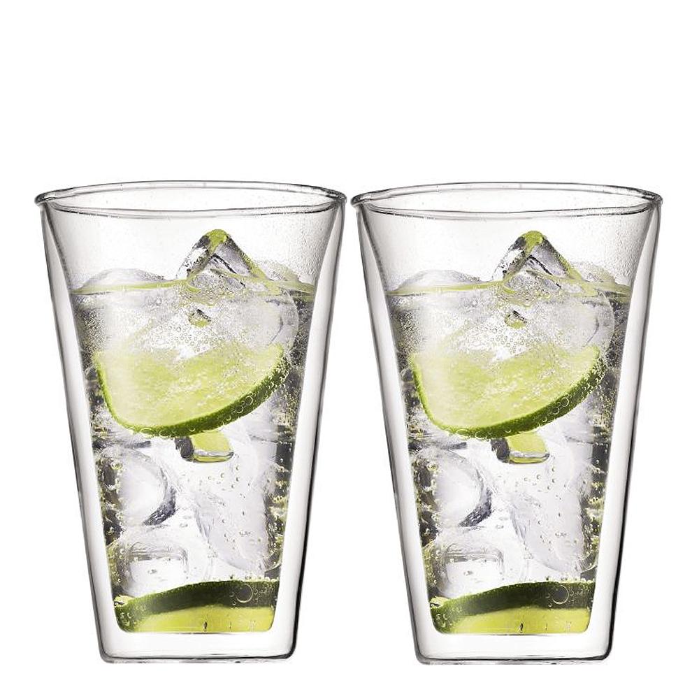 Bodum - Canteen Glas dubbelväggad 40 cl 2-pack