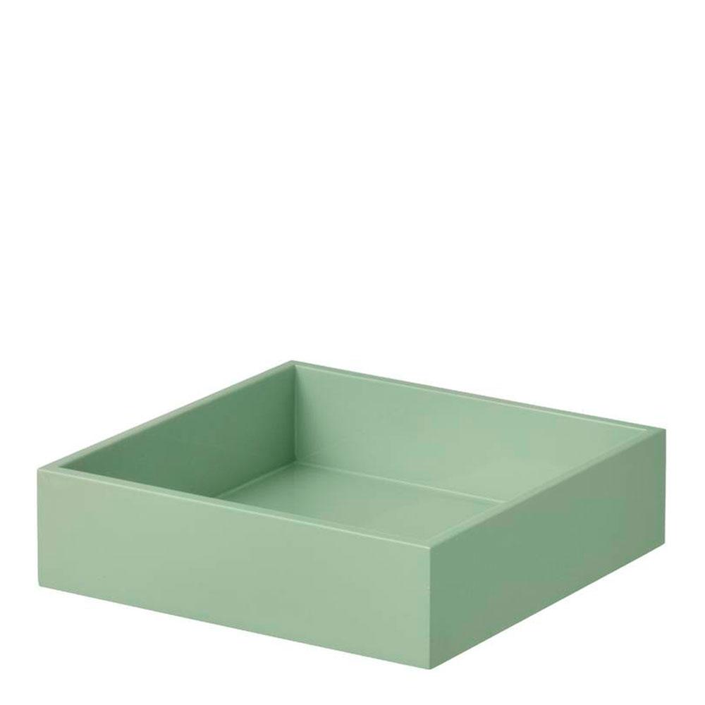 Bungalow - Lacquer Servettbricka 22,5x22,5x5 cm Grön