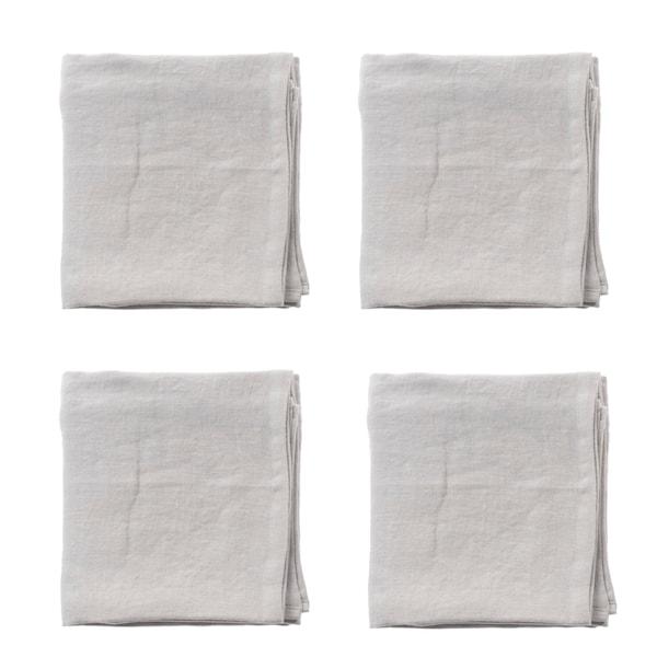 Raw Linneservetter 4-pack 45x45 cm