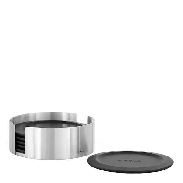 Blomus Lareto Glasunderlägg Silikon 6-pack Svart