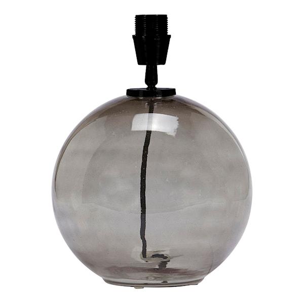 Jonna Lampfot Glas 32 cm Rökfärgad