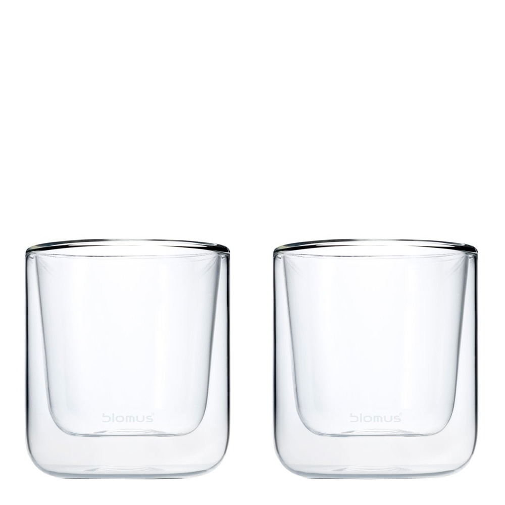 Blomus - Blomus Nero Kaffeglas 2-pack Klar