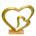Helia Skulptur Dubbelhjärta 43 cm Guld
