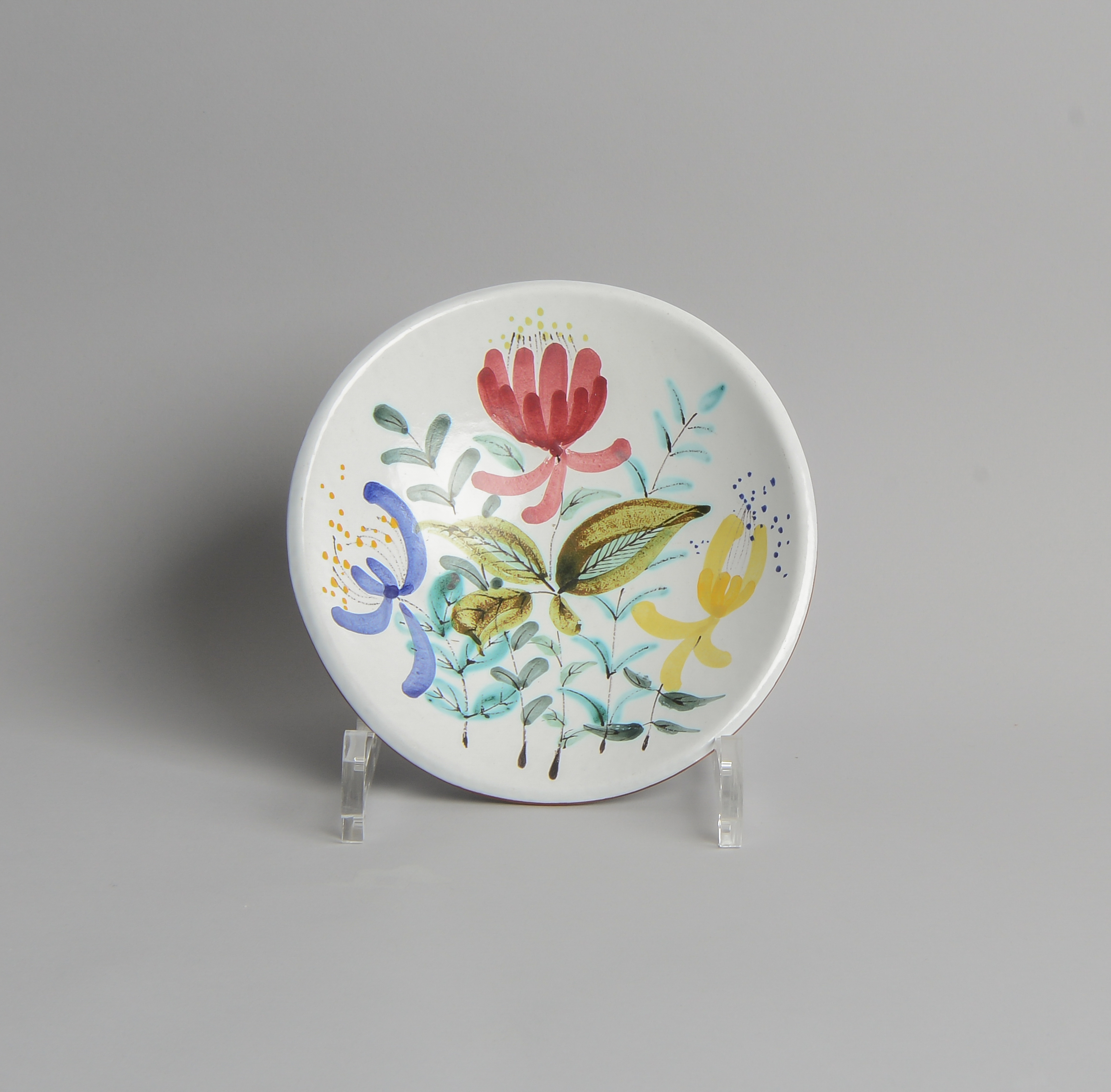 Gustavsberg - SÅLD Fajansskål med Blomstermotiv