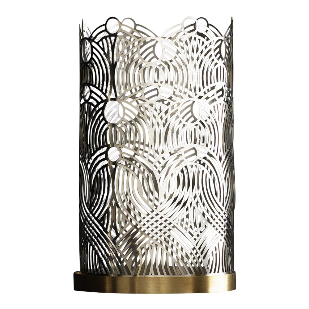 Skultuna - Bohinc Lunar Ljuslykta 17 cm Silver