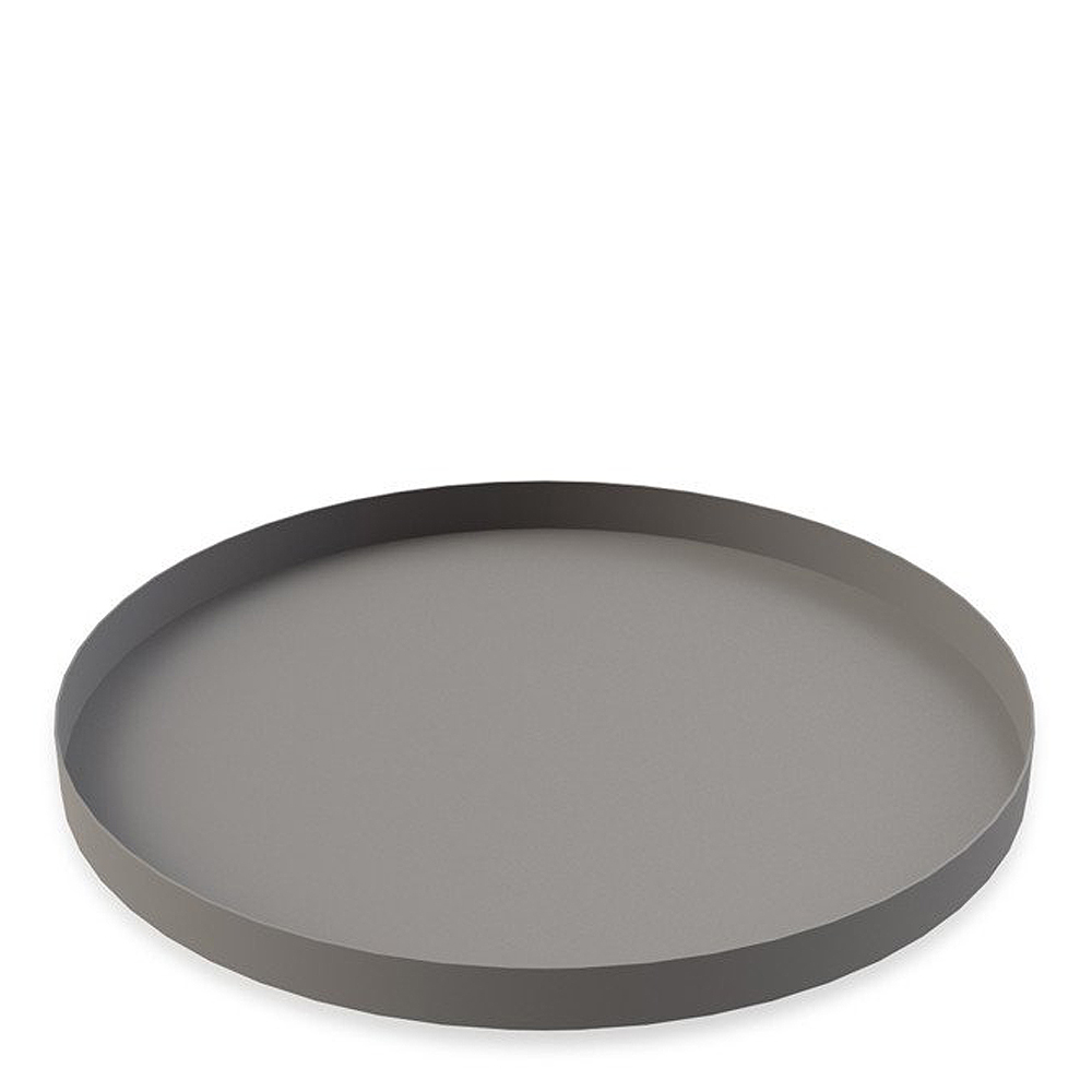 Cooee - Tray Circle Fat 30 cm Grå