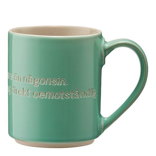 Astrid Lindgren Mugg Grön Jag är fräknigare