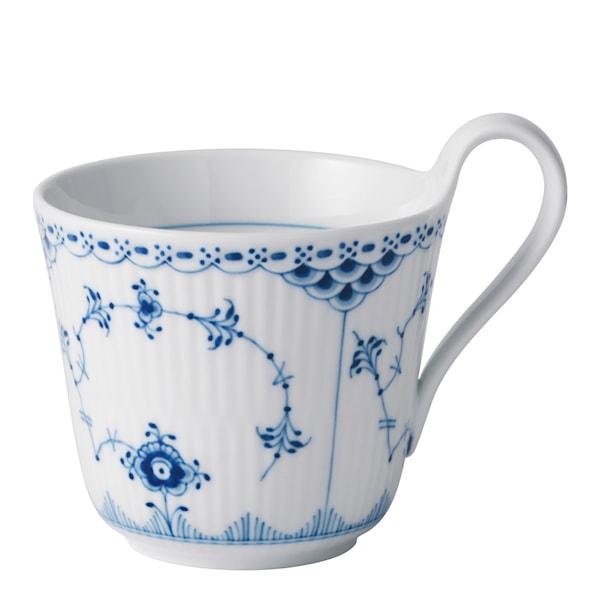 Royal Copenhagen Blue Fluted Plain Kopp med högt handtag 33 cl