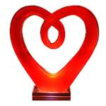 Glasskulptur Hjärta 28 cm Röd