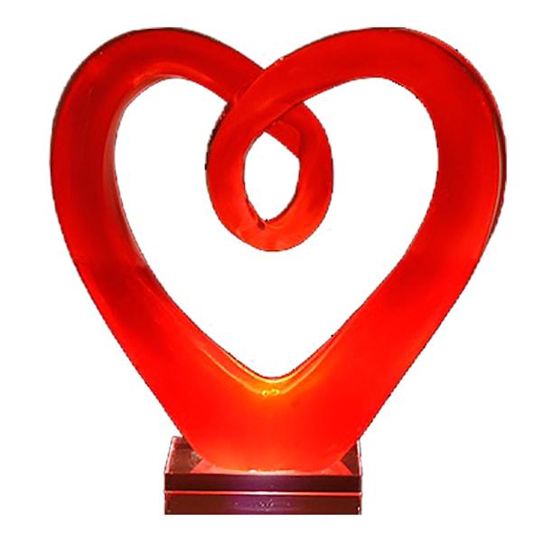 Glasskulptur Hjärta 28 cm