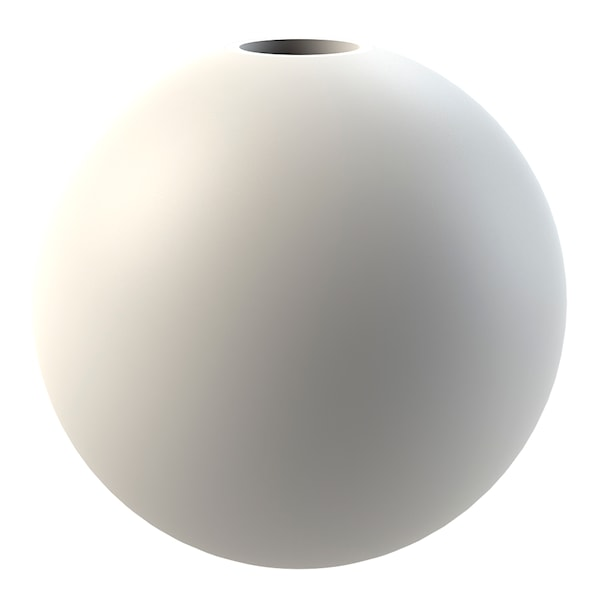 Cooee Ball Ljusstake 8 cm Vit
