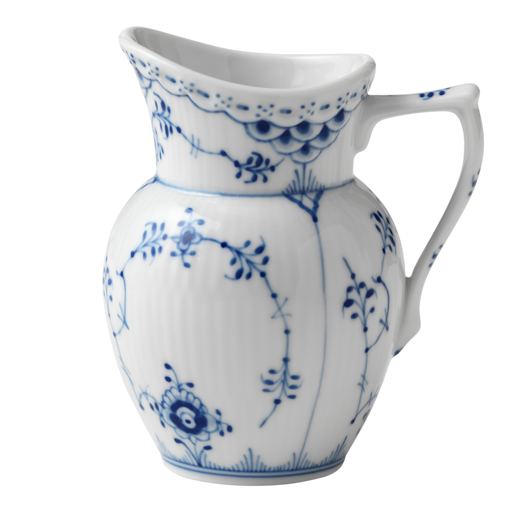 Royal Copenhagen - Blue Fluted Half Lace Mjölkanna 17 cl