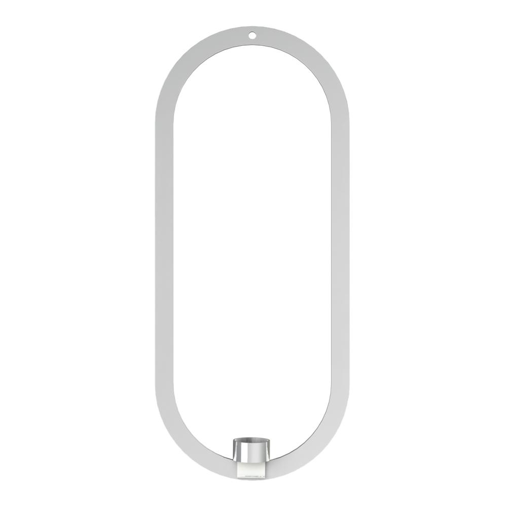 Cooee - Oval Krans/Ljushållare 49x21 cm Rostfri