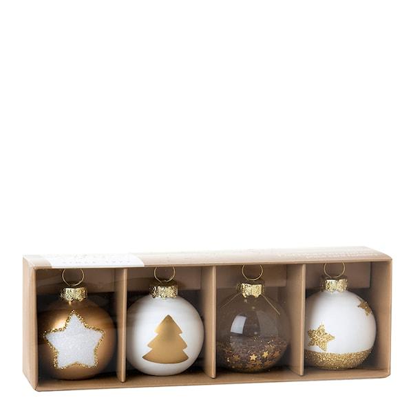 Korthållare Julkulor 4-pack