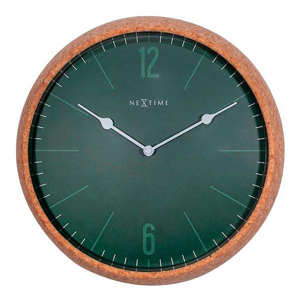 Cork Väggklocka 40 cm Grön