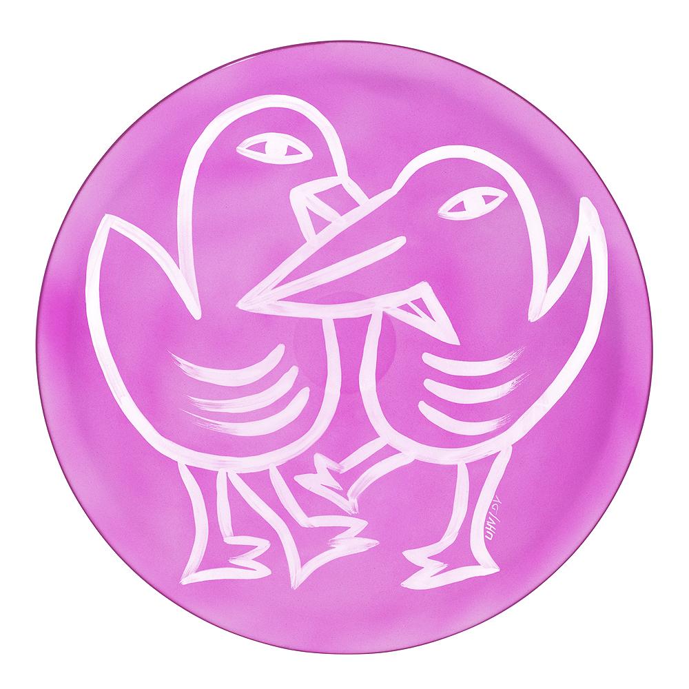 Kosta Boda - Final Peace Fat Fåglar Rosa 38,5 cm Rosa