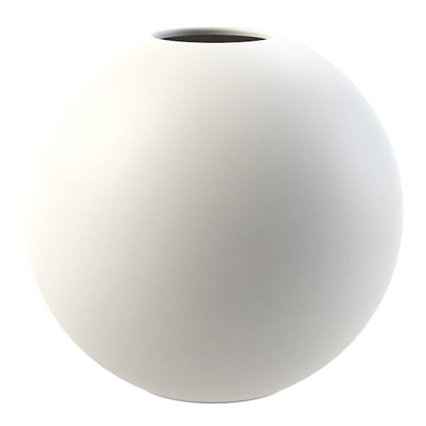 Cooee Ball Vase 20 cm Hvit
