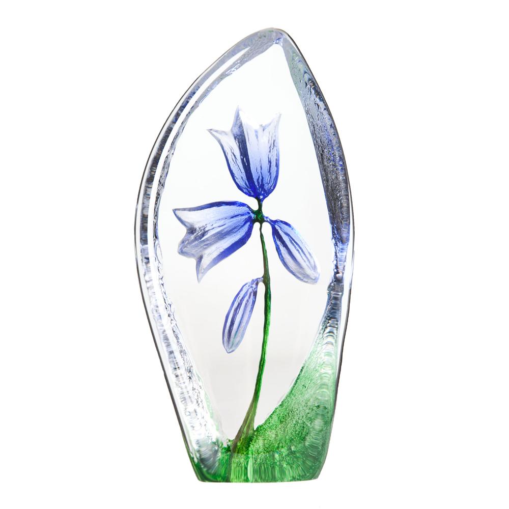 Målerås Glasbruk - Floral Fantasy Blåklocka 11,5 cm Blå