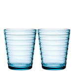 Aino Aalto Glas 22 cl 2-pack Ljusblå
