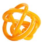 Glasskulptur Knot No 2 S  Varm Gul