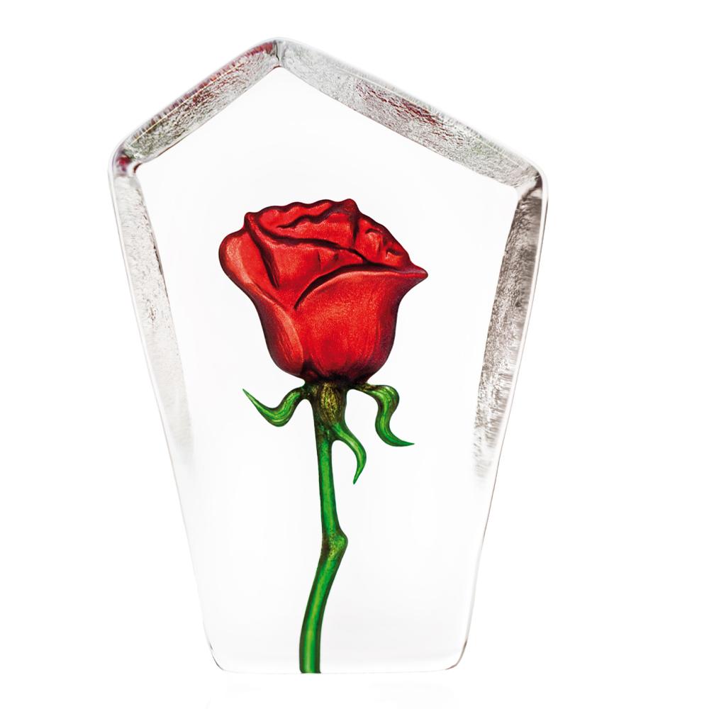 Målerås Glasbruk - Floral Fantasy Ros 13 cm Röd