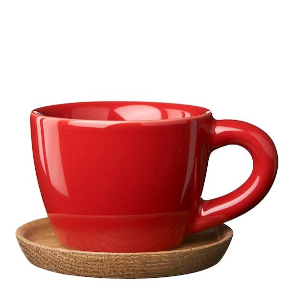Espressokopp med träfat 10 cl