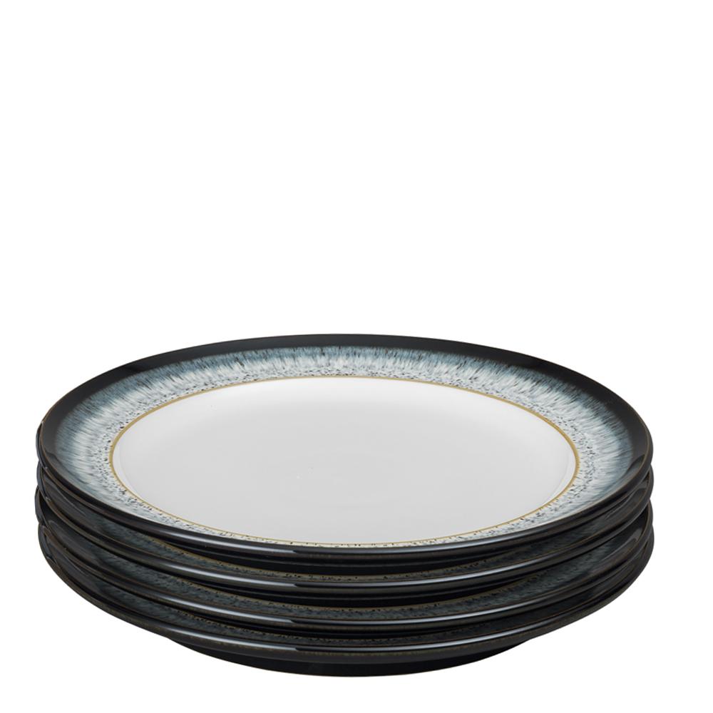 Denby - Halo Tallrik 28 cm 4-pack  Blå-svart