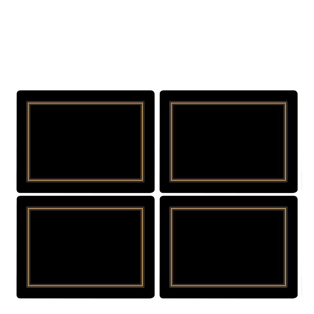 Pimpernel - Classic Tablett 40x30 cm 4-pack Svart