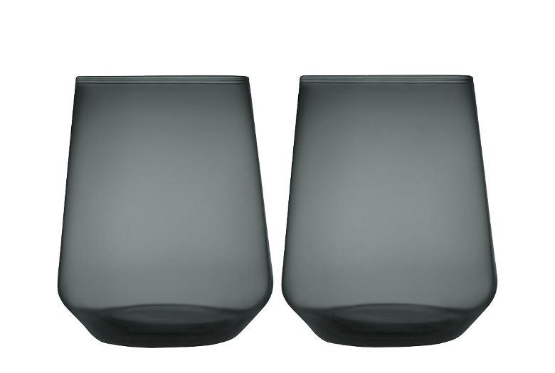 Iittala - Essence Glas 35 cl 2-pack Mörkgrå