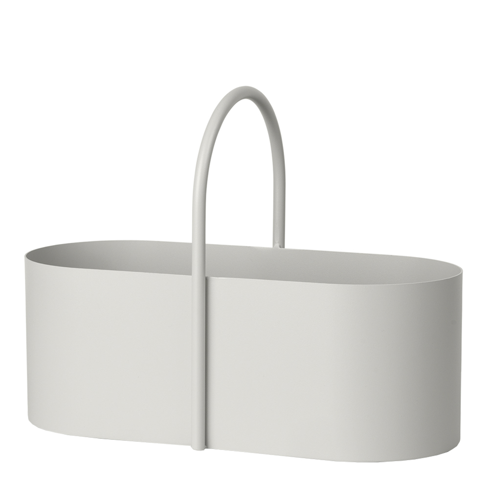 Ferm Living - Grip Korg i Plåt 26,3x35x17 cm Ljusgrå
