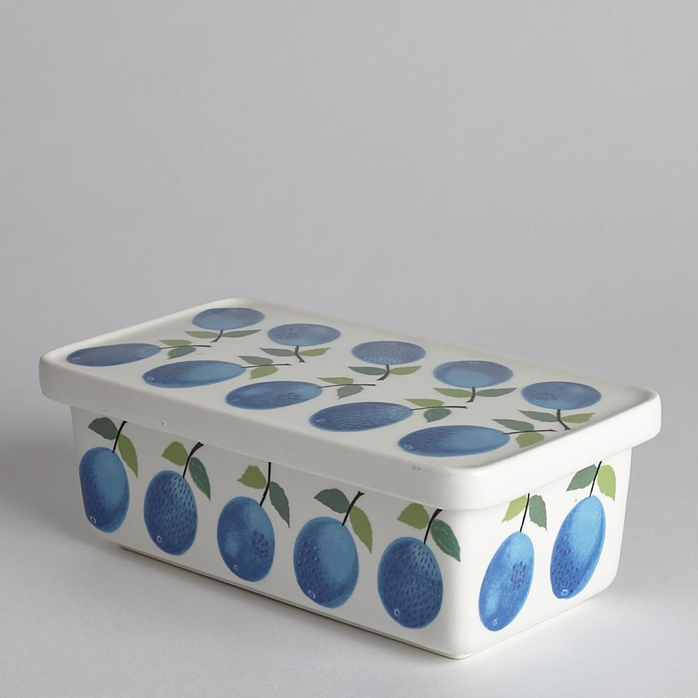 Gustavsberg - SÅLD Smörask med Lock Prunus