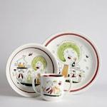 SÅLD Vintage Äppel Päppel Barnservis 3 delar