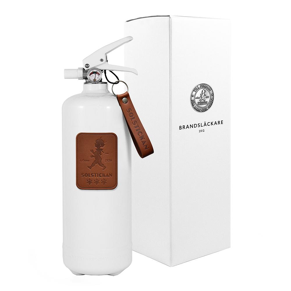 Solstickan - Brandsläckare 2 kg Vit/Läder Mörkbrun