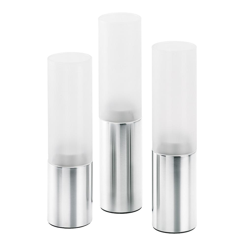 Blomus - Faro Ljuslykta 3-pack Frostat glas