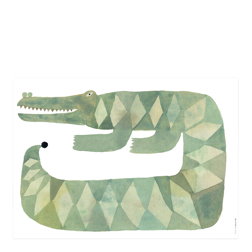 Oyoy - Affisch 70x50 cm Krokodilen Gustaf