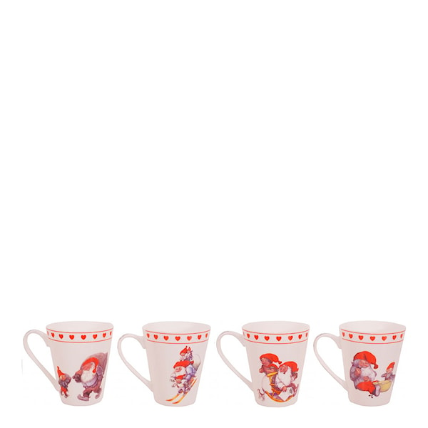 Rolf Lidberg Mugg Tomte 33 cl 4-pack