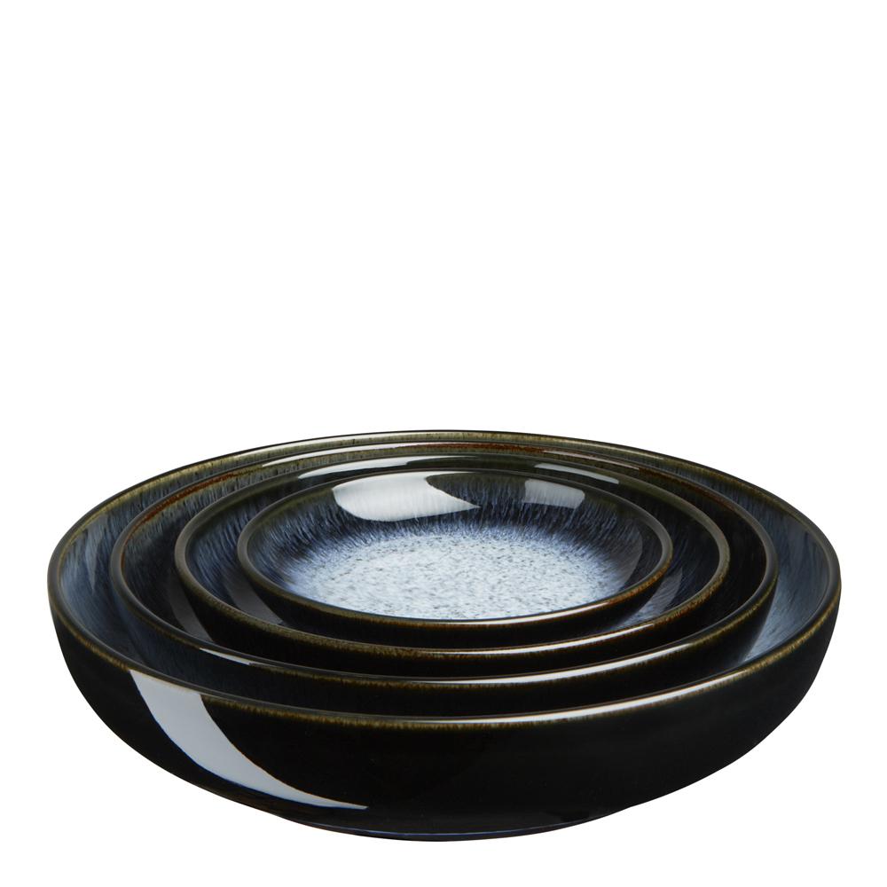 Denby - Halo Serveringsskål 4-pack  Blå-svart