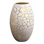 Croco Vas 26 cm Vit/Guld