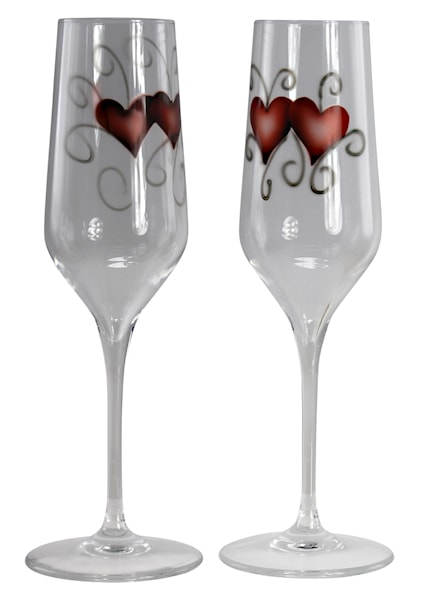 Crystal Ink Glas 23 cl heart 2-pack