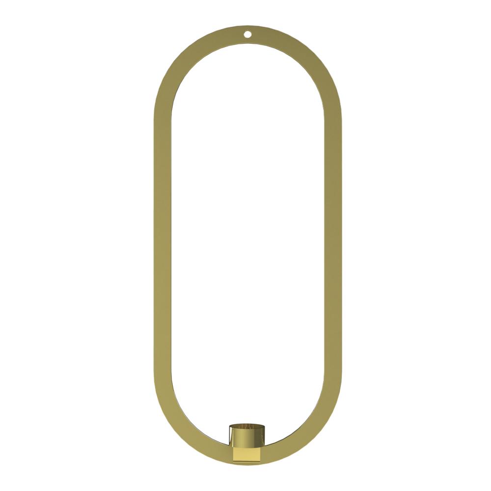 Cooee - Oval Krans/Ljushållare 49x21 cm Mässing